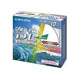 三菱化学メディア DVD+R8.5GB PCデータ用メディア DL規格 8倍速記録 10枚ケース入 印刷可能仕様(ワイド) DTR85HP10