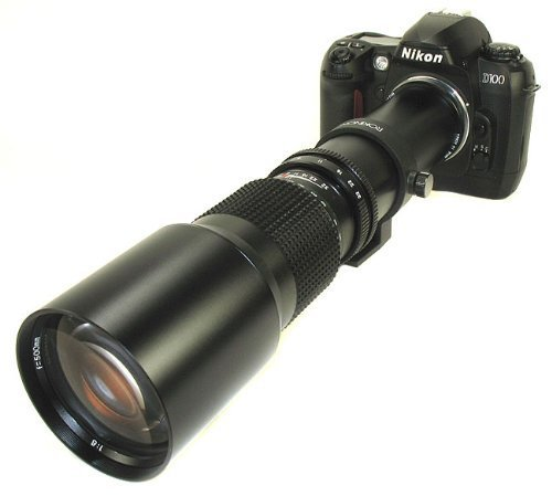 500Mm Rokinon Telephoto Lens For Nikon D40, D80, D90,D200