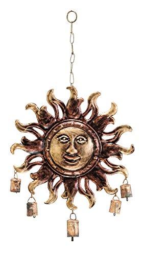 Benzara Metal Sunface Windchime in Modern Age Fashion