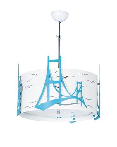 Minimal Lights kroonluchter Bosphorus blauw medium