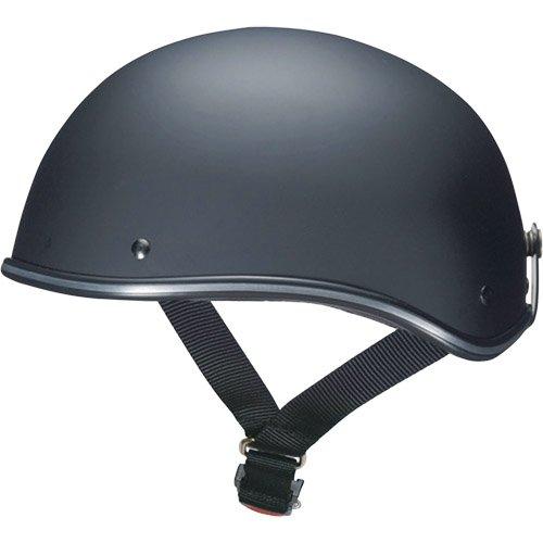マルシン(MARUSHIN) バイクヘルメット ハーフ D-118 マットブラック フリーサイズ(57~~60CM未満)