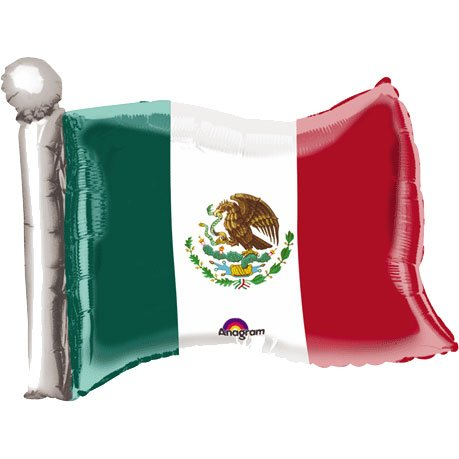 Mexican Flag Mini Shape Balloon