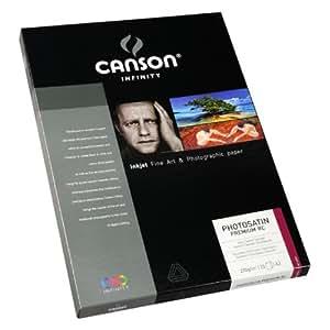 Canson infinity Satin Premium RC 206231010 Boîte Papier Photo 25 feuilles 270g A3 29,7x42 cm Blanc