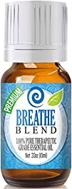 Breathe Blend 100% Pure, Best Therapeutic Grade Essential Oil – 10ml – Peppermint, Rosemary, Lemon,…