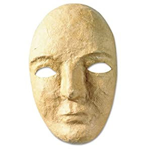 """Street Paper Mache Mask Kit, 8 x 5 1/2"""" - Science Lab Supplies"""