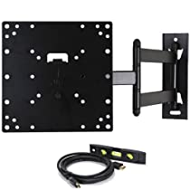"VideoSecu Tilting Swing Arm TV Wall Mount Bracket for 29"" 32"" 37"" Vizio E291i-A1 VL320M VA320M VA320E VO320E E320VA E320VL E3D320VX E320-A0 M321i-A2 E320-B0E E370-A0 VL370M E370VL E371VL LCD LED 3D TV ML531B M84"