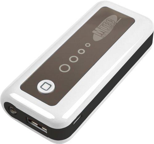 Mtec *5600mAh* externer Akku Power Bank für Handy Smartphone z.B. Samsung Galaxy S5 / S4 Mini / S3 / S3 Mini / S2 / Note / Note 2 / Note 3 / Ace / Y / Galaxy Tab / Sony Xperia Z2 / Z1 / Compact / Z / M / HTC One / M8 / One mini / One mini 2 / Desire 310 / Motorola Moto G / Moto X / LG G3 / G2 / G2 Mini / Google Nexus 5 / L90 / Huawei Ascend Y530 / Y300 / G6 / 6 / Apple iPhone 4 / 5 / 5S / 5C / iPad 4 / iPad Air / iPad mini 2 / iPad mini / iPad 3 / Nokia Lumia 1520 / 630 / 520 - Weiß