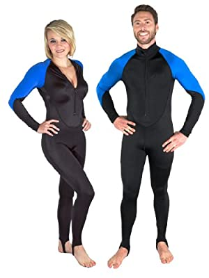 Storm Lycra Scuba Diving Skin, Black/Blue