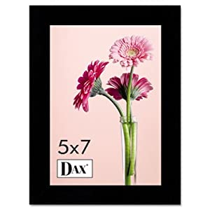 """DAX DAX1826H3T Solid Wood Photo/Picture Frame Easel Back 5"""" x 7"""", Black"""