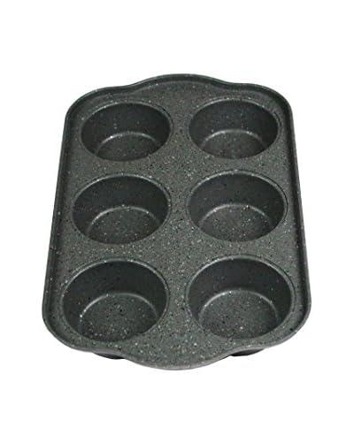 Blaumann Molde Para 6 Muffins Grey Granit Line