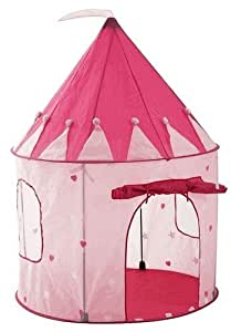 Girl's Pink Princess Castle Play House with Glow in the Dark Stars by Pockos - Indoor