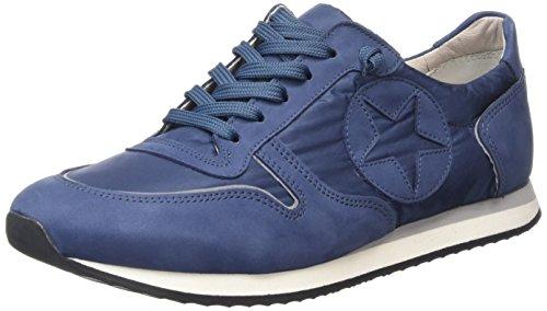 Kennel und Schmenger SchuhmanufakturTrainer - Scarpe da Ginnastica Basse Donna , Blu (Blau (jeans S.grau-weiss 671)), 43