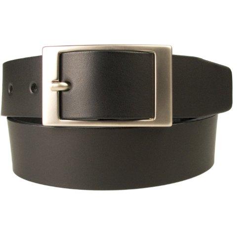 """46-50, Xxl, Black 1 3/8"""" (35Mm) - Mens Full Grain Leather Belt Made In Uk (Bd-0004-35)"""