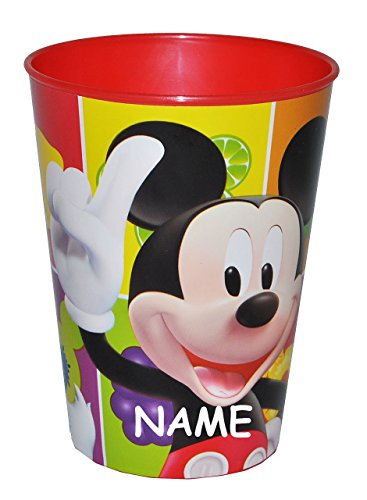 3-in-1-Trinkbecher-Zahnputzbecher-Malbecher-Disney-Mickey-Mouse-incl-Name-Becher-aus-Kunststoff-Plastik-Trinkglas-Donald-Duck-Maus-Playhouse-fr-Jungen-Mdchen-Kinder