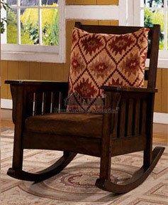 Ridgetwood Dark Oak Rocking Accent Chair front-885795