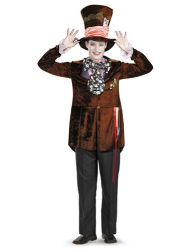 Mad Hatter Deluxe Movie 38-40 Adult Mens Costume