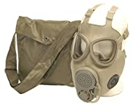 NVA ABC-Gasmaske Schutzmaske M10M mit integrierten Backenfiltern und Tasche Neuwertig