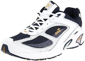 AVIA Men's A5020M Running Shoe,White/Navy/Grey,7 4E
