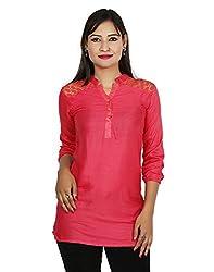 Sringar Women's Top (As3097_L_Pink_X-Large)