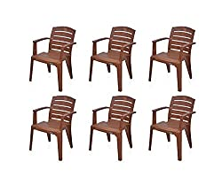 @home by Nilkamal Passion Garden Set of 6 Chair (Mango Wood)