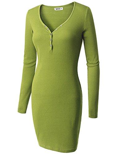 Doublju Womens Light Weight Swim Heathebrown LIGHTGREEN Dress,L