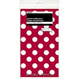 Polka Dot Plastic Tablecloth, 108 x 54, Red