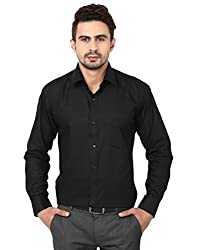 Reborn Designer Black Cotton Shirt for Men -Size-38