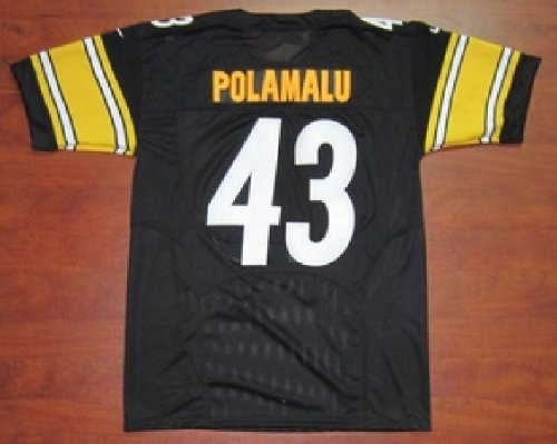 Pittsburgh Steelers NKE Unveils New 2012 NFL Uniforms #43 Troy Polamalu Football Black Jerseys Size 52