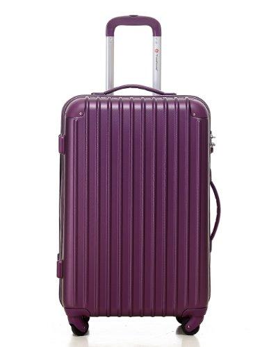 [トラベルハウス]Travelhouse スーツケース [S パープル] キャリーバッグ TSA ファスナー 4輪