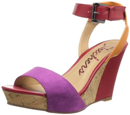 Skechers Women's Sky Scrape Roof Top Wedge Sandal,Berry Multi,7 M US
