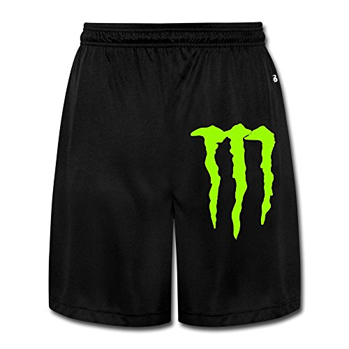 Men's Funny Claw Energy Shorts Black Size XL (Monster Energy Apparel Kids compare prices)