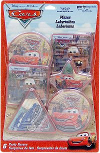 Cars Maze Puzzles 6ct