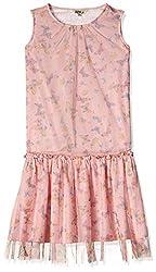 People Girls' Dress (P50602067095810_Pink  _9-10 Yrs)