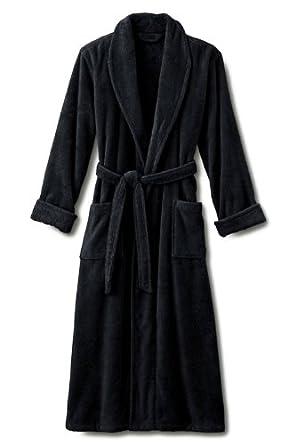 Black Terry Spa Bathrobe. Heavy 3lb. 100% Cotton Terry. Size 2x / XXL