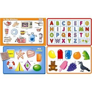 Play and Learn - In the Kitchen + Shapes + Colours + Alphabet (Capital) Combo