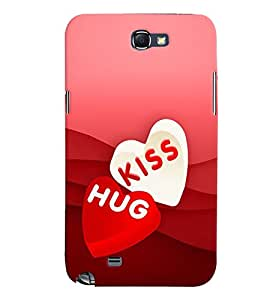 PRINTVISA Abstract Love Case Cover for Samsung Galaxy Note N7000