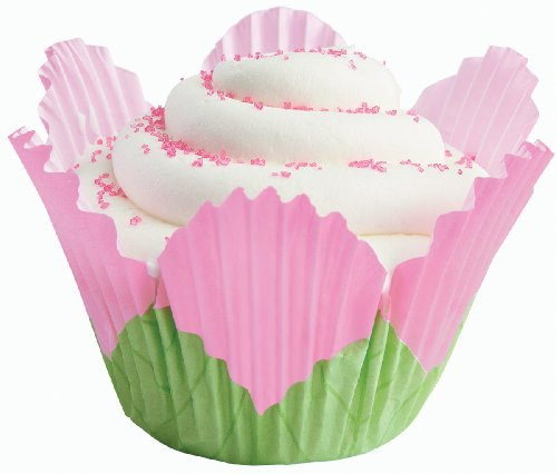 Wilton Pink Petal Baking Cups, 24 Count (Flower Baking Cups compare prices)