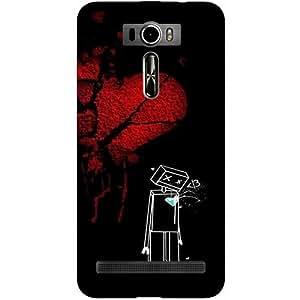 Casotec Broken Heart Design Hard Back Case Cover for Asus Zenfone 2 Laser ZE601KL