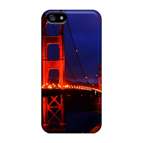 Saraumes Fashion Protective Golden Gate Bridge 3 Case Cover For Iphone 5/5S