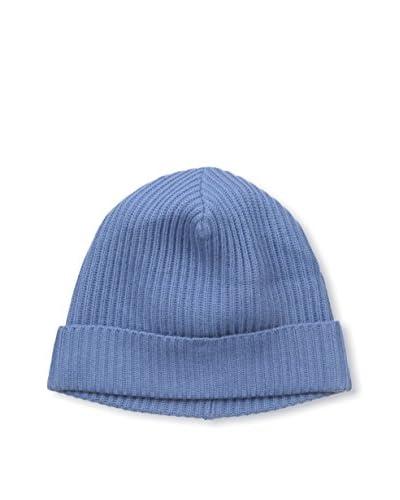 Portolano Men's Ribbed Knit Skull Cap, Capri Blue