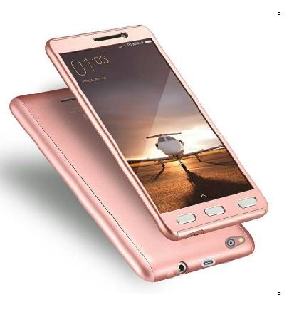 sneakers for cheap 14ccb 2cde1 CEDO 360 Degree Full Body Protection Front & Back Case Cover for Xiaomi  Redmi 3s Prime with Tempered Glass (iPaky Style) - Rose Gold