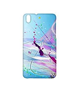 Vogueshell Colour Drops Printed Symmetry PRO Series Hard Back Case for HTC Desire 816G