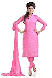 Ethnic For You Women's Cotton Salwar Suit Dress Material(ETH5867_Pink)