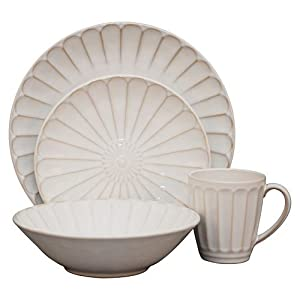 Sango Sundance 16-Piece Dinnerware Set, White