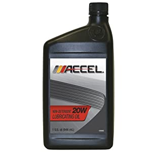 Accel 60318 SAE 20 Non-Detergent Motor Oil - 1 Quart Bottle (Case of 12)
