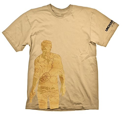 T-Shirt Uncharted - Nathan Drake Map [beige, XL] [Edizione: Germania]
