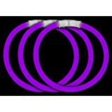 "CoolGlow Educational Products - 50 8"" Glow Stick Bracelets Purple Glowsticks - Simply snap and shake"