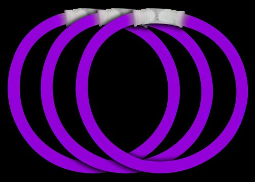 "Fun Central P73 8"" Glow Stick Bracelets Purple Glowsticks - 50ct"