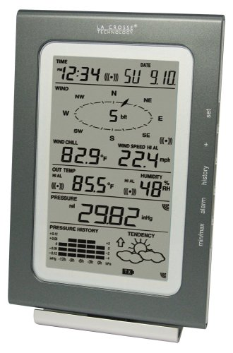 La Crosse Technology Ws-1516-It Professional Weather Center With Wind, Rain, And Outdoor Weather, Plus Forecast And Barometer
