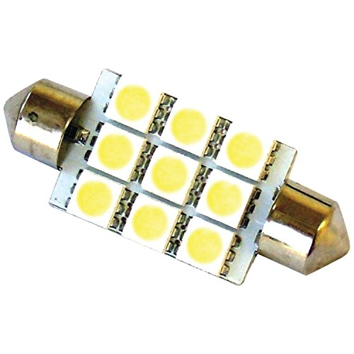Race Sport Rs-42Mm-W-5050 42Mm Led White 9 Chip Bulbs